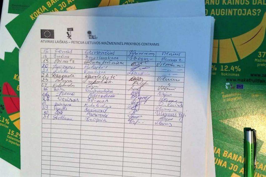 Pusė tūkstančio žmonių reikalauja pokyčių Lietuvos prekybos centruose