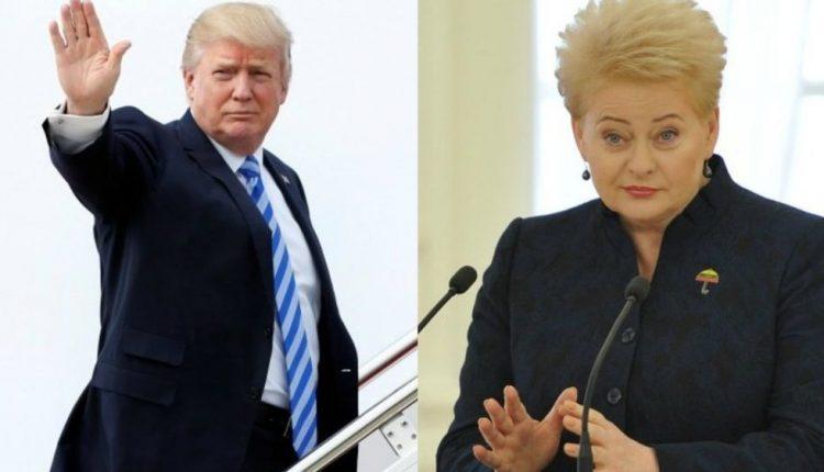 Prezidentė Varšuvoje susitiks su JAV prezidentu D. Trampu